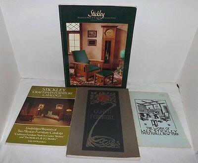 (Group of 4) Books and Reproductions Catalogs of STICKLEY CRAFTSMAN FURNITURE