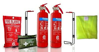 Gas Safe Engineer FIRE Safety Full Pack  Extinguisher 1ST AID KIT BLANKET HI VIS