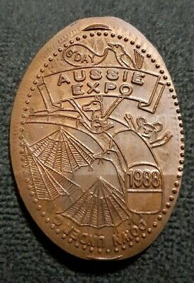 Aussie Expo 1988 Rolled Penny On 1944 Australian Penny