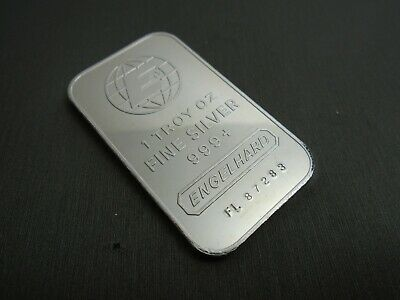 ENGELHARD 1 oz .999 Fine Silver Bar WITH SERIAL NUMBER #A3