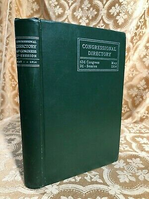 Official Congressional Directory 63d Congress 2d Session December 1 1913 Book