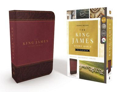 KJV Study Bible Full-Color Edition, Imitation Leather, Burgundy BRAND NEW!!!
