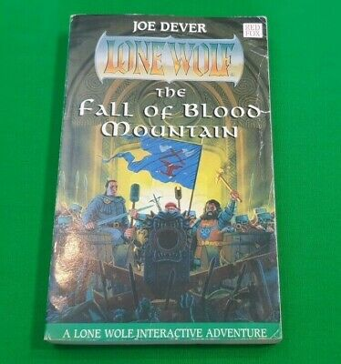 The Fall of Blood Mountain***1st EDITION!!*** Lone Wolf Joe Dever Red Fox #1