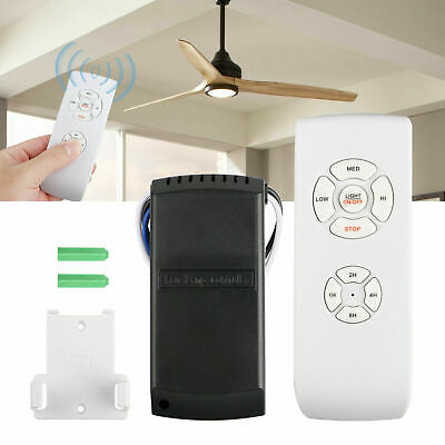 New 110-240V Universal Ceiling Fan Lamp Speed Remote Control Kit Timing Wireless