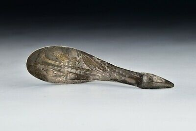 Northwest Coast American Indian Silver Spoon w/ Bird Motif