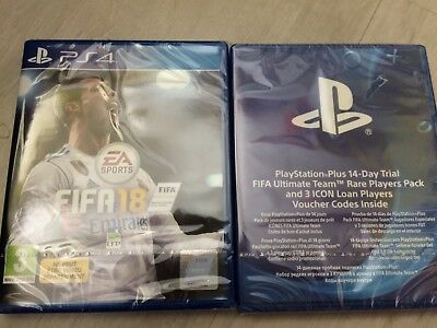 *** PS4 *** Pack sous Blister Jeux Fifa18 & Fifa ultimate Team rare players NEUF