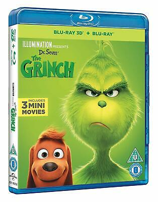 Dr. Seuss' The Grinch (3D + 2D Blu-ray, 2 Discs, 2018, Region Free) *NEW/SEALED*