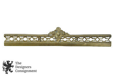 Antique 19th C. Brass Figural Fireplace Fender Insert Empire Style Neoclassical