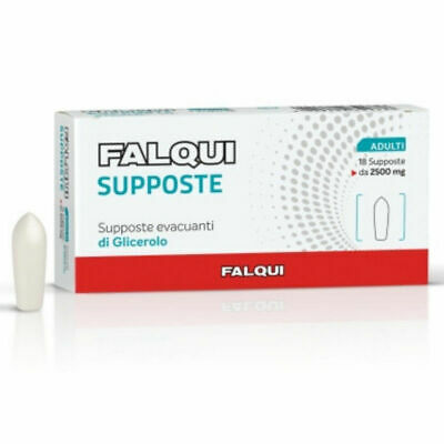 FALQUI SUPPOSTE EVACUANTI DI GLICEROLO Adulti - 18 supposte da 2500 mg