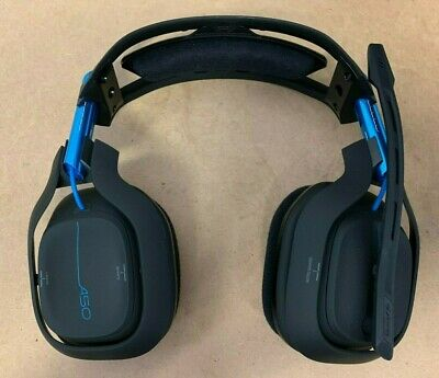 ASTRO Gaming A50 Wireless Dolby Gaming Headset Black/Blue PlayStation 4 PC AS-IS
