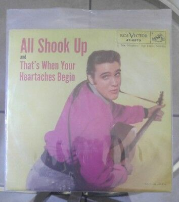 ELVIS PRESLEY All Shook Up/That's... Heartaches Begin 45w/Pic Sleeve RCA 47-6870