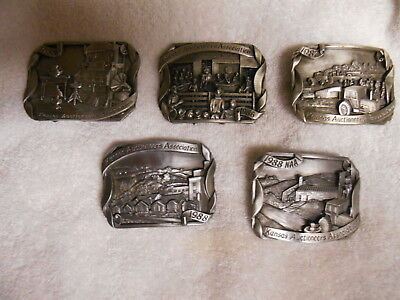5 Kansas Auctioneer Belt Buckles Made By Siskiyou Co. Limited Edition Pewter