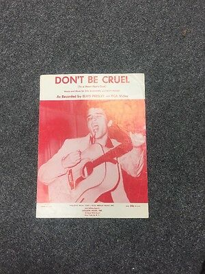 Elvis Presley Music Sheet Don't Be Cruel USA RED 50 Cent Variant