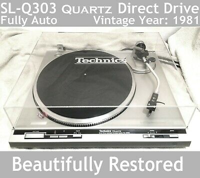 Technics SL-Q303 Turntable Beautifully Restored Superb Condition New Dust Cover