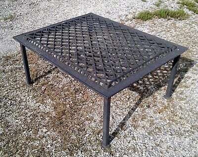 Antique Cast Iron Cold Air Vent Grate Garden Bench