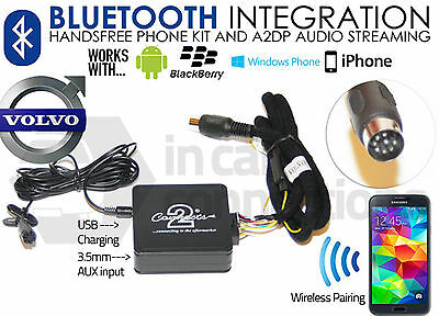 Volvo Bluetooth streaming handsfree calls CTAVLBT001 AUX USB iPhone Sony Samsung