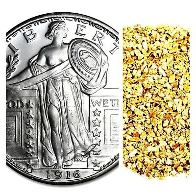1 Troy Ounce .999 Silver Standing Liberty Bu +50 Piece Alaskan Pure Gold Nuggets