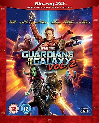 Guardians of the Galaxy Vol. 2 (3D + 2D Blu-ray, 2 Discs, Region Free) *NEW*