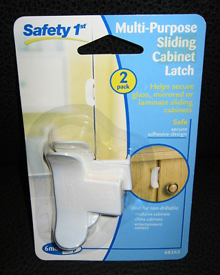 NEW Safety 1st Multi-Purpose Sliding Cabinet Latch, 2-Pack