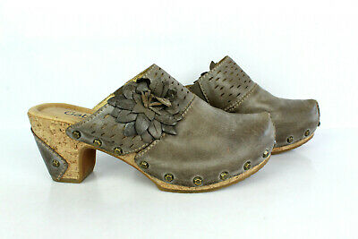 Clogs Gabor Leather Taupe T 37.5/UK 5 Very Good Condition
