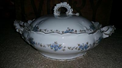 Antique Marx & Gutherz Austria Covered Bowl With Lid Porcelain #2556 Mint Rare
