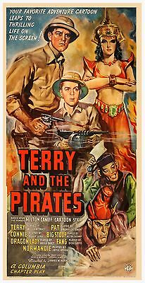Lot of 4 vintage movie serials Terry & the Pirates Tarzan John Wayne Musketeers