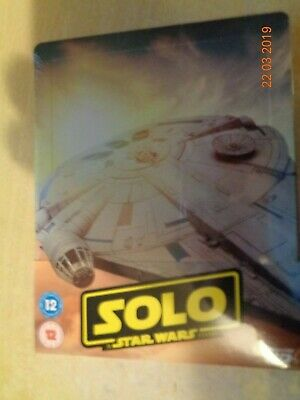 Solo A Star Wars Story 2D/3D Blu Ray Steelbook New & Sealed