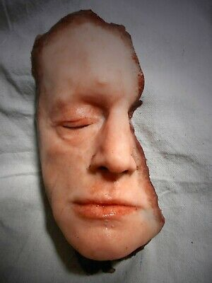 HORROR PROP Silicone Face MOVIE FX Graphic Halloween Dead Gore Body Parts ZOMBIE