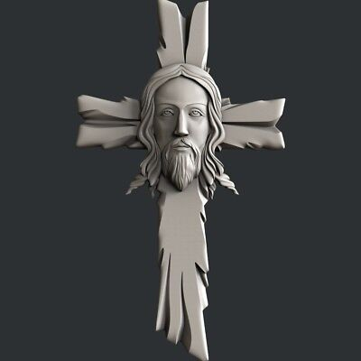 3d STL models for CNC, Artcam, Aspire, decor religion jesus cross