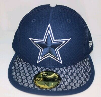 sale retailer b16b8 9f1a4 Dallas Cowboys New Era NFL Sideline On Field 59Fifty Fitted Cap Hat 7 1 4