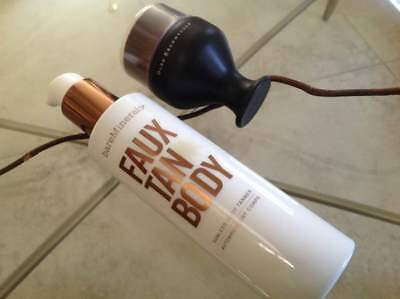 bareMinerals Faux Tan Body Sunless Tanner 6 fl. oz. AND Tan Brush - Brand new.