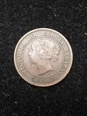 1859 Canada One Cent N9 DP4 Charlton Nice VF to EF
