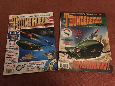 THUNDERBIRDS The comic no's 1 & 2 1991,, FIRST ISSUE,,