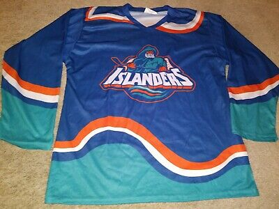 Vtg Jersey T Shirt New York Islanders Fisherman L Men Hockey 90s