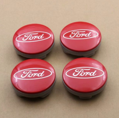 FORD style 54mm red  Alloy Wheel Centre Caps Fits Most Models at 54mm