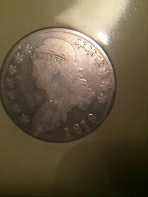 1818 Philadelphia Mint Silver Capped Bust Half Dollar USA Free Shipping