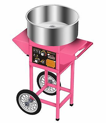 New Cotton Candy Floss Machine Cart Candyfloss Sugar Maker Electric