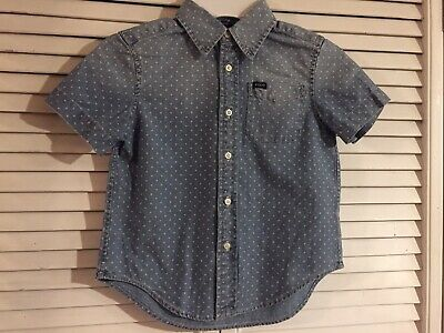 9015e1cc529ba5 Boys Ralph Lauren Distressed Denim Chambray Button Front Shirt Size 4T - NWT