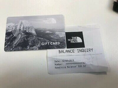 North Face Store Gift Card £65