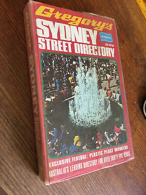 Gregory's Sydney Street Directory 38th Edition hardcover 1973