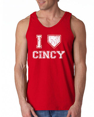 007 I LOVE CINCINNATI Tank Top baseball redlegs vintage jersey retro ohio cool