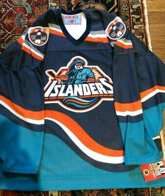 100 Original 1996 New With Tags Xl Ccm New York Islanders Fisherman