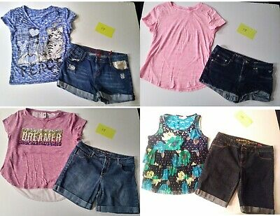 Girls Size 161/2 Plus,18, Summer Clothing, Shorts, Tops, Junior Clothes, Justice