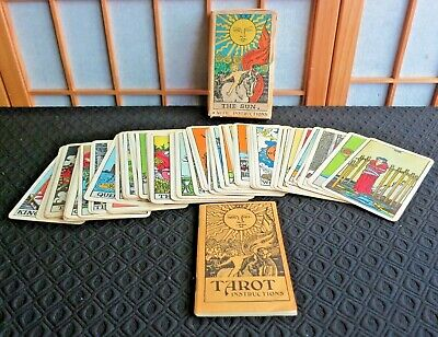 Vintage 1968 Tarot Cards Set By Frankie Albano