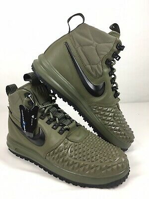 more photos 27c04 cec16 Nike Lunar Air Force 1 Duckboot 17 Olive Green LF1 916682-202 Mens Size 11.5