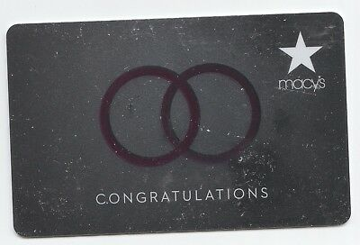 Macy's collectible gift card no value mint #18 Two Rings Congratulations