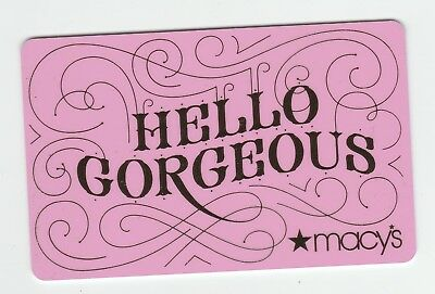 Macy's collectible gift card no value mint #34 Hello Gorgeous