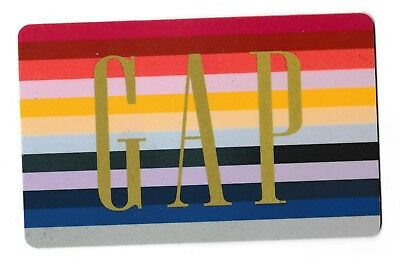 Gap collectible gift card no value mint #05 Rainbow