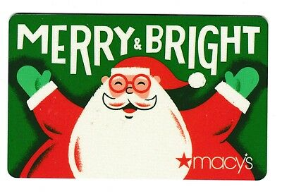 Macy's collectible gift card no value mint #45 Merry & Bright