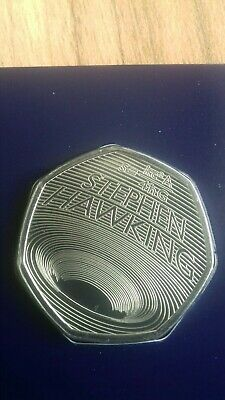 STEPHEN HAWKING 2019 50p Pence Coin BUNC. IN HAND READY FOR DISPATCH.